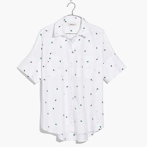 Madewell Embroidered Cactus Courier Shirt